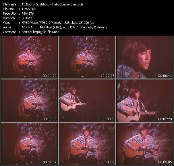 Bobby Goldsboro video screenshot