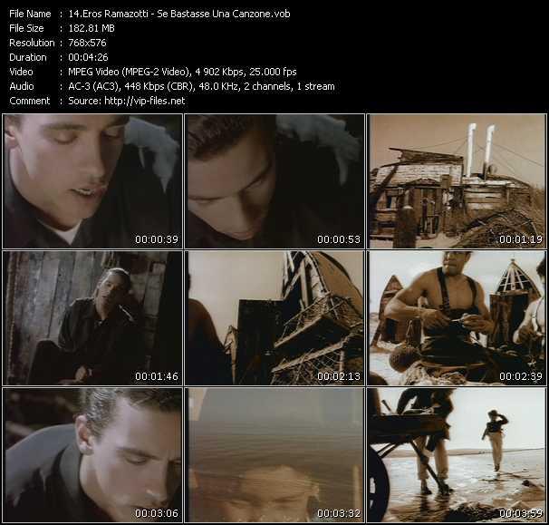 Eros Ramazotti video screenshot