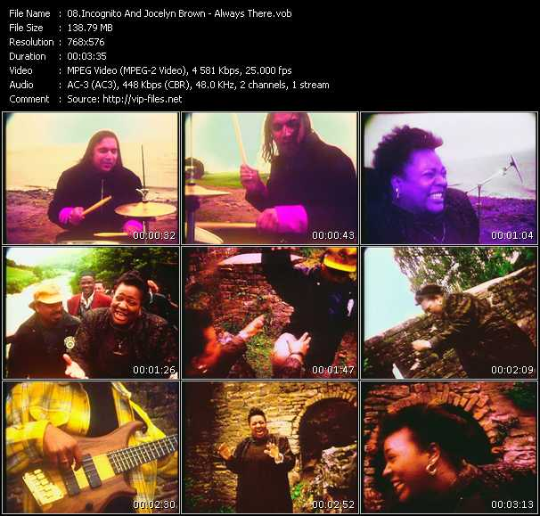 Incognito Feat. Jocelyn Brown video screenshot