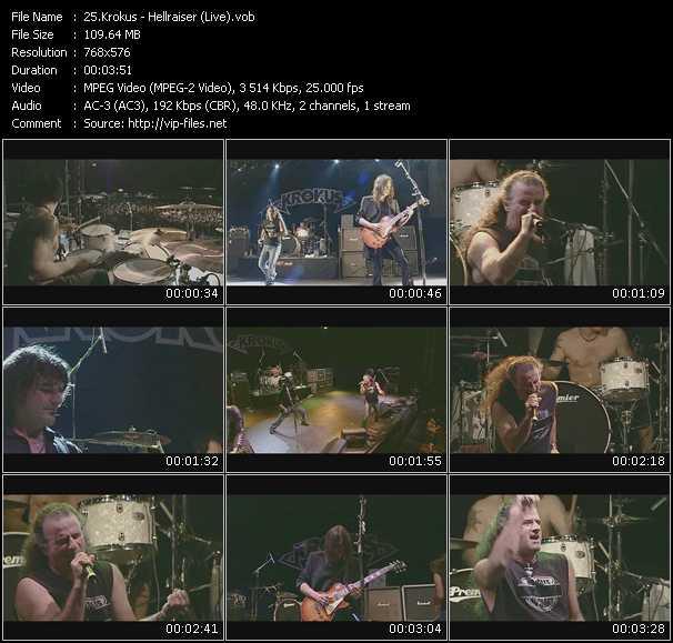 Krokus video screenshot