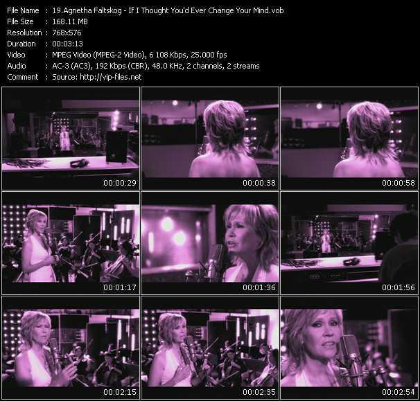 Agnetha Faltskog video screenshot