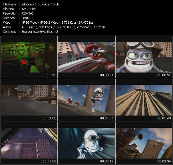Crazy Frog video screenshot