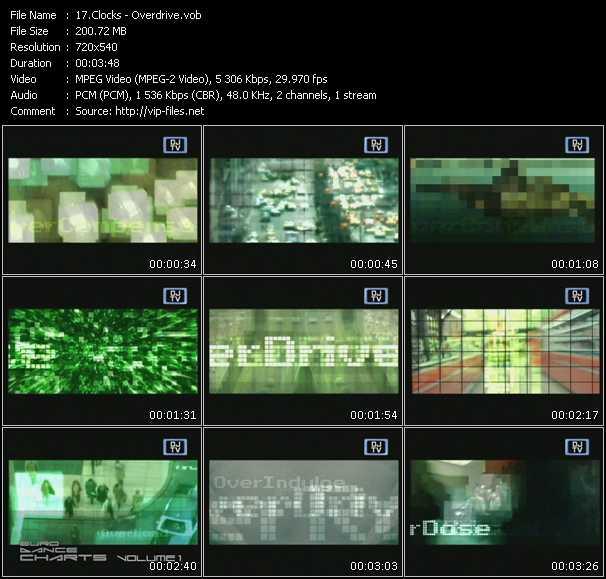Clocks video screenshot