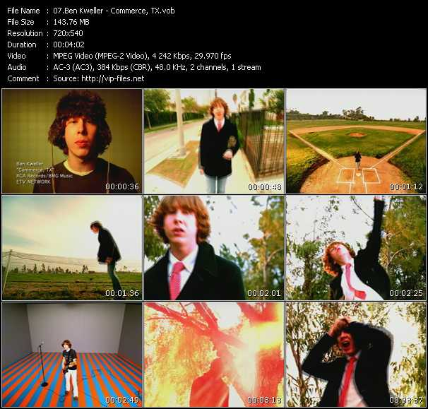 Ben Kweller video screenshot