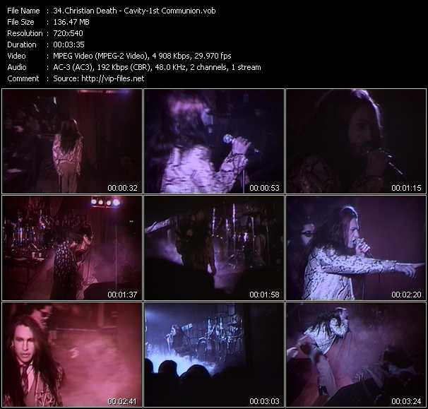 Christian Death video screenshot