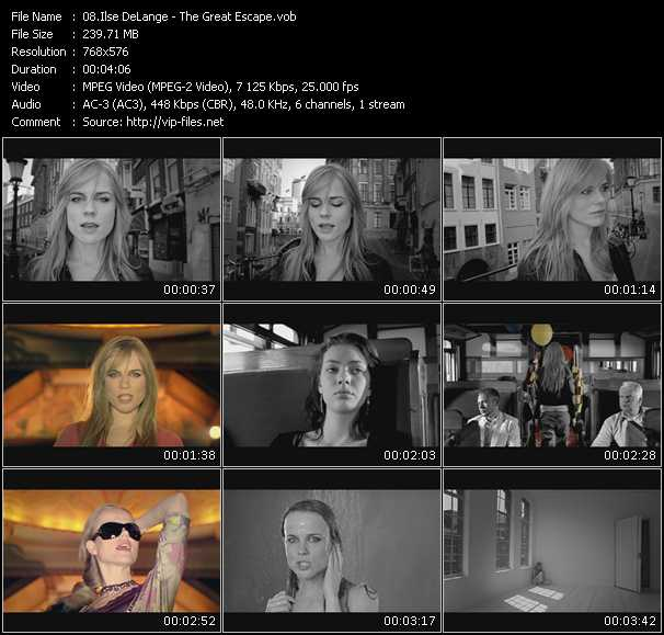 Ilse DeLange video screenshot