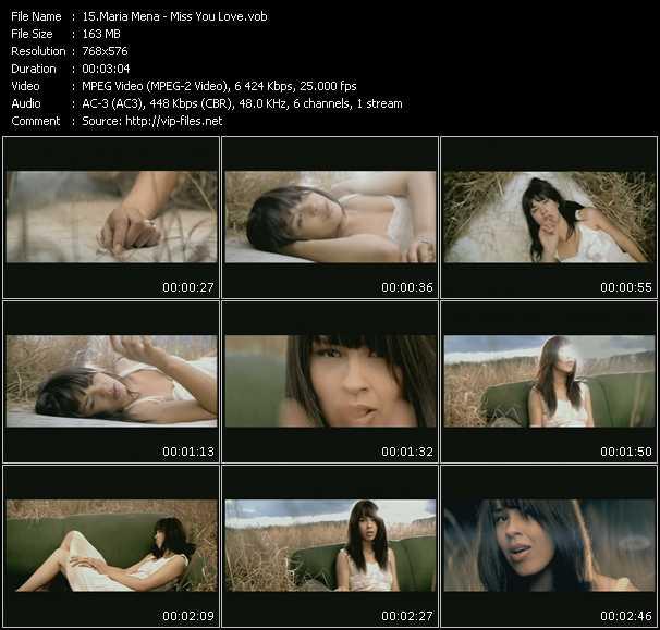 Maria Mena video screenshot