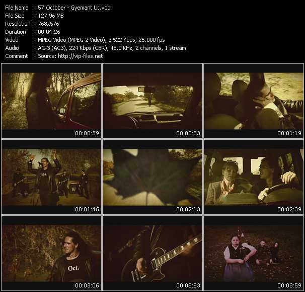 October video screenshot