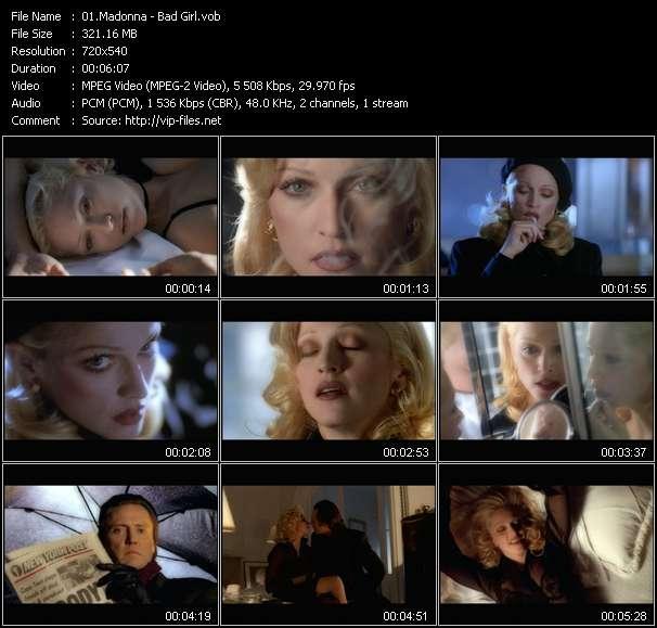video Bad Girl screen