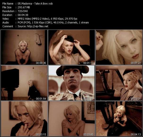 video Take A Bow screen