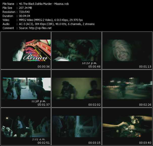 Black Dahlia Murder video screenshot