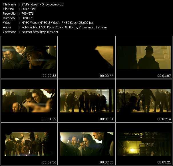 Pendulum video screenshot