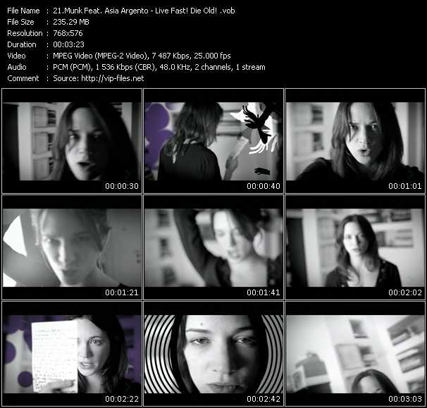 Munk Feat. Asia Argento video screenshot