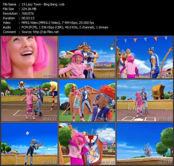 LazyTown video screenshot