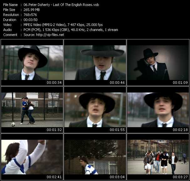 Peter Doherty video screenshot