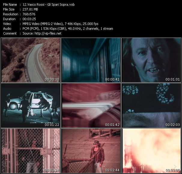 video Gli Spari Sopra screen