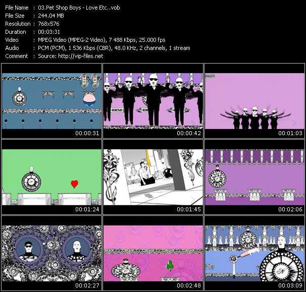 video Love Etc. screen
