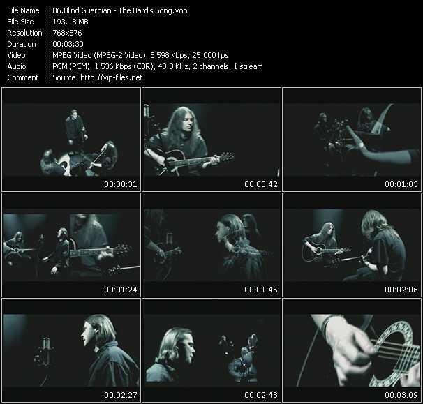 Blind Guardian video screenshot