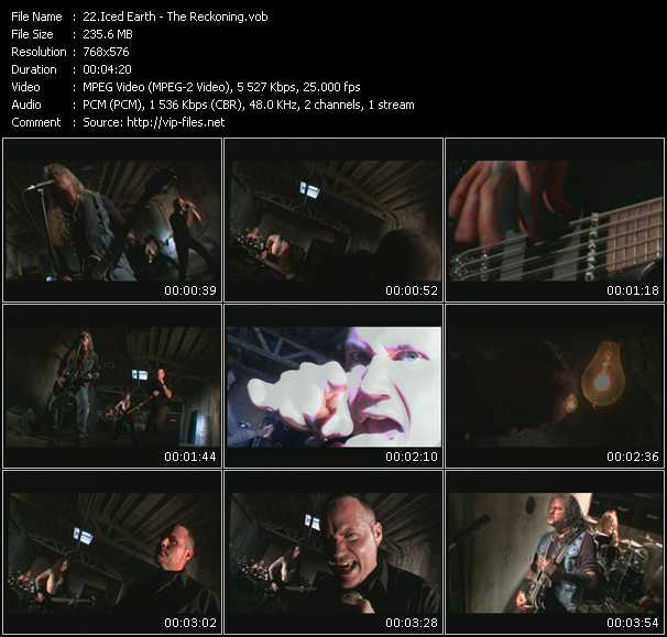 Iced Earth video screenshot