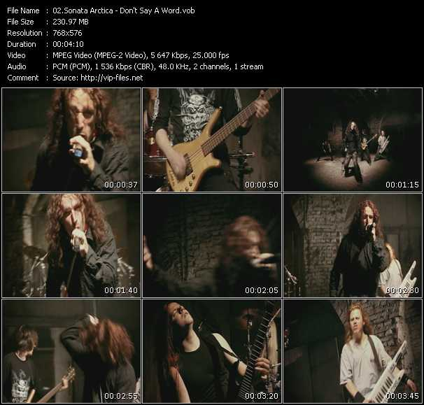 Sonata Arctica video screenshot