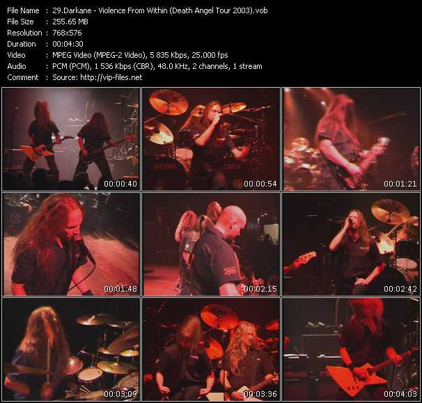 video Violence From Within (Death Angel Tour 2003) screen