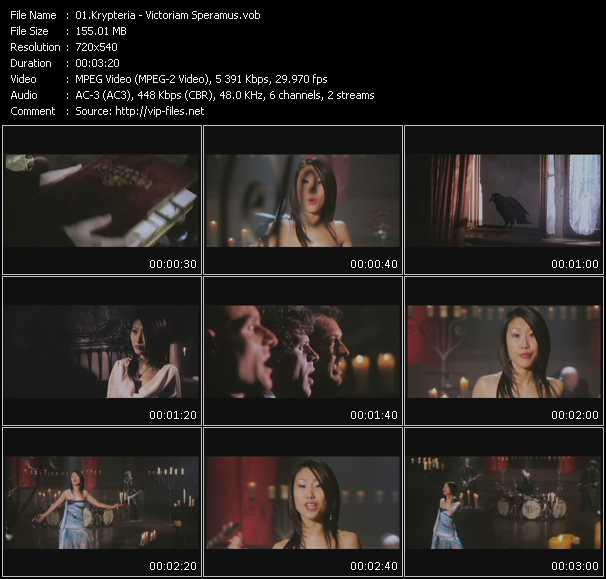 Krypteria video screenshot