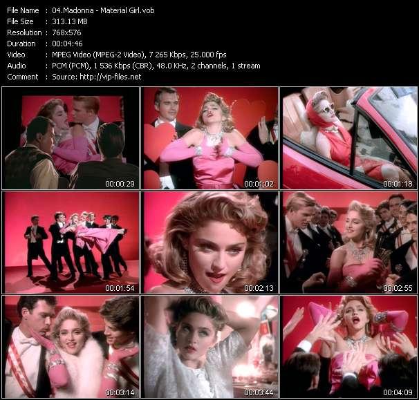 video Material Girl screen
