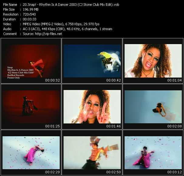 video Rhythm Is A Dancer 2003 (CJ Stone Club Mix Edit) screen