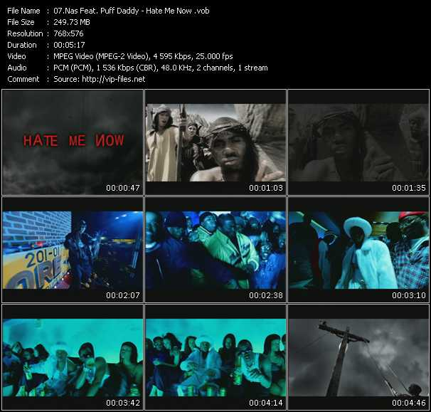 video Hate Me Now screen