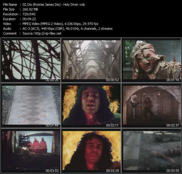 video Holy Diver screen