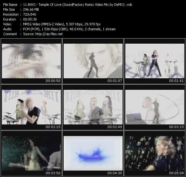 video Temple Of Love (SoundFactory Remix Video Mix by DeMO) screen