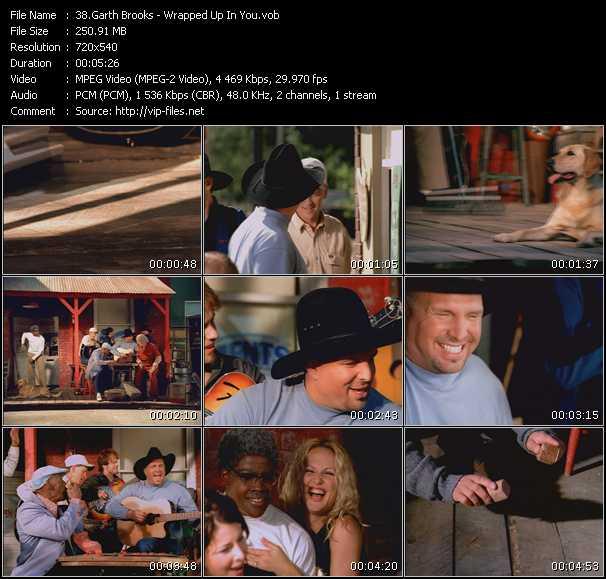 Garth Brooks video screenshot