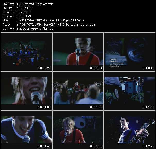 Injected video screenshot