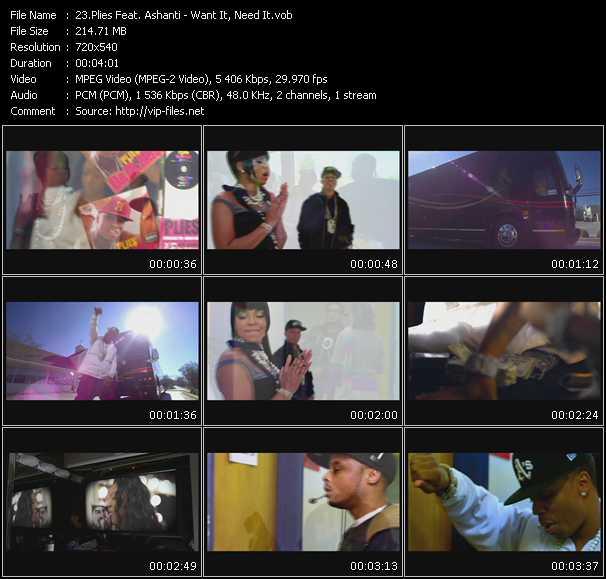 video Want It, Need It screen