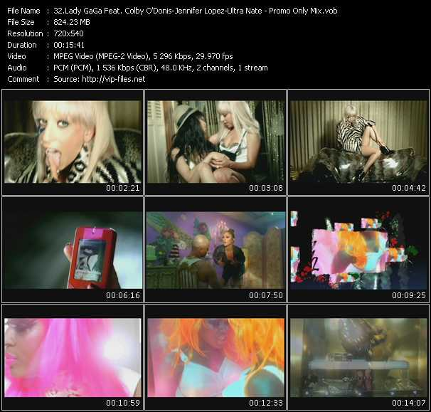 Lady GaGa Feat. Colby O'Donis - Jennifer Lopez - Ultra Nate video screenshot