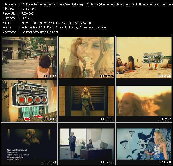 video These Words (Lenny B Club Edit) - Unwritten (Hani Num Club Edit) - Pocketful Of Sunshine (Stonebridge Club) screen
