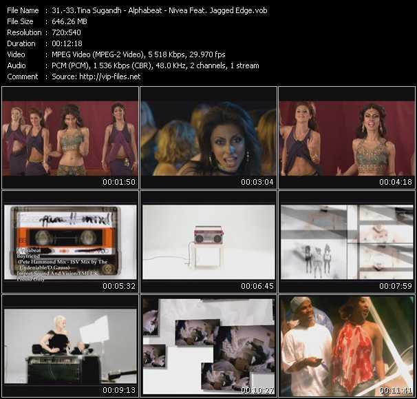 Tina Sugandh - Alphabeat - Nivea Feat. Jagged Edge video screenshot