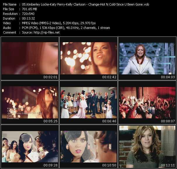 Kimberley Locke - Katy Perry - Kelly Clarkson video screenshot