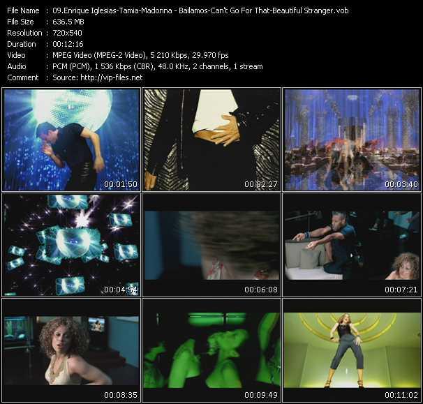 Enrique Iglesias - Tamia - Madonna video screenshot