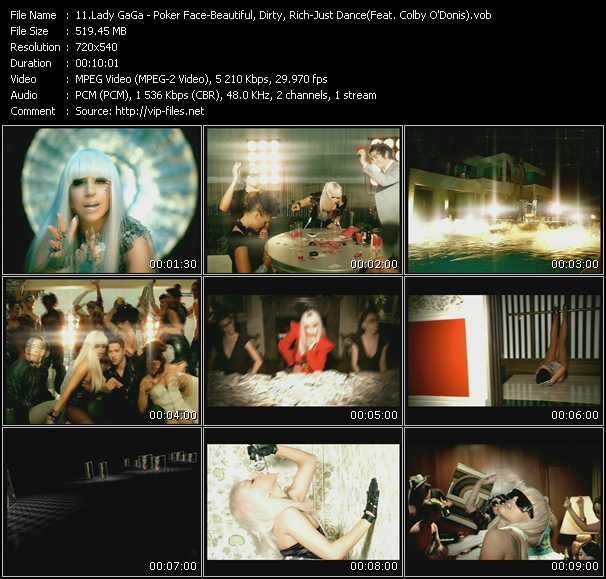 Lady GaGa video screenshot