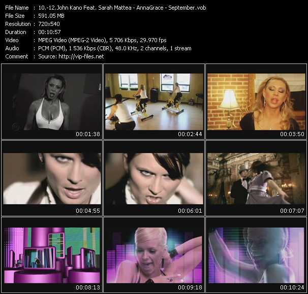 John Kano Feat. Sarah Mattea - AnnaGrace - September video screenshot
