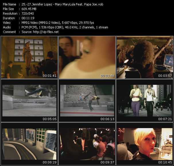 Jennifer Lopez - Mary MaryLula Feat. Papa Joe video screenshot