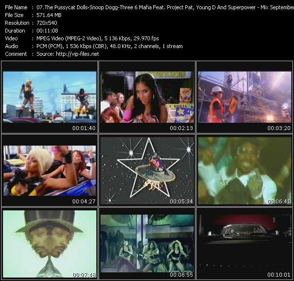Pussycat Dolls - Snoop Dogg - Three 6 Mafia Feat. Project Pat, Young D And Superpower video screenshot