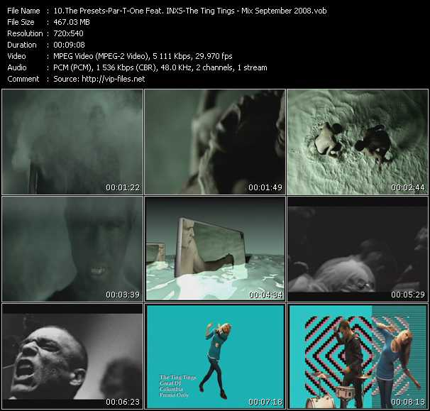 Presets - Par-T-One Feat. Inxs - Ting Tings video screenshot
