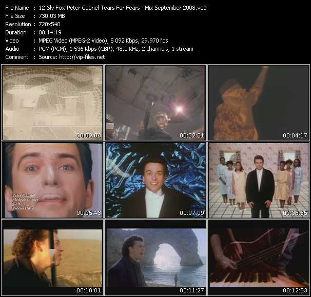 Sly Fox - Peter Gabriel - Tears For Fears video screenshot