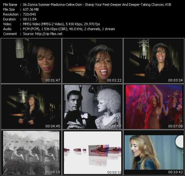 Donna Summer - Madonna - Celine Dion video screenshot
