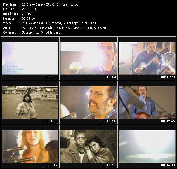 Steve Earle video screenshot