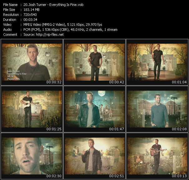 Josh Turner video screenshot