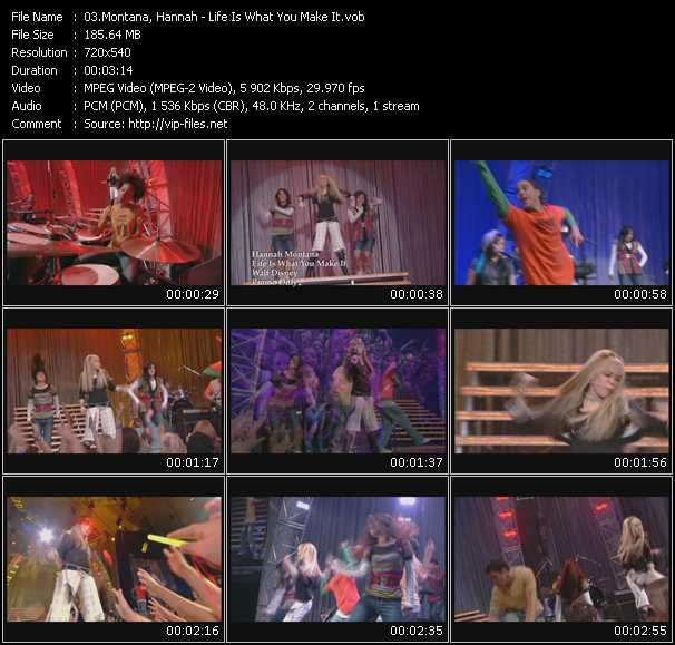 Hannah Montana video screenshot