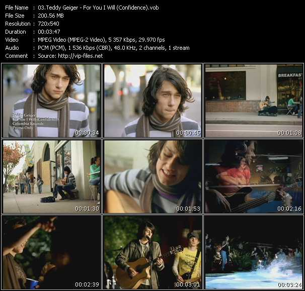 Teddy Geiger video screenshot